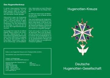 Prospekt Hugenottenkreuze - Hugenotten Webshop - Deutsche ...