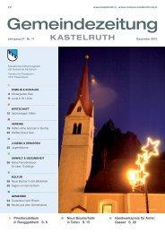 Gemeindezeitung Kastelruth - Ausgabe Dezember 2010 (6,59 MB