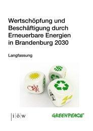 Langfassung der Studie zu Wertschöpfung und ... - Greenpeace