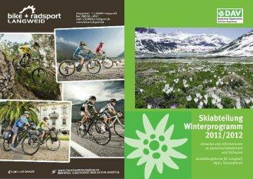 Skiabteilung Winterprogramm 2011/2012 - Alpenverein Augsburg