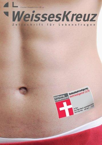 Selbstbefriedigung - Weißes Kreuz