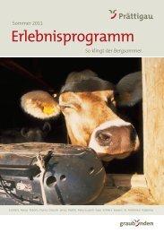 Sommer 2011 Erlebnisprogramm - Prättigau