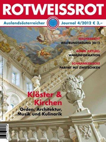 ROTWEISSROT Ausgabe IV/2012 - Auslandsösterreicher-Weltbund