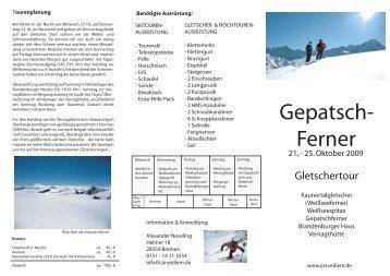 Ötztaler Alpen - Weißkugel - Carve Diem