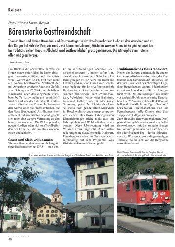 Bärenstarke Gastfreundschaft - Hotel Weisses Kreuz Bergün