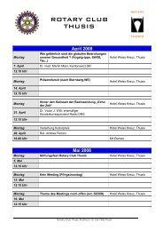 April 2008 - Rotary Club Thusis