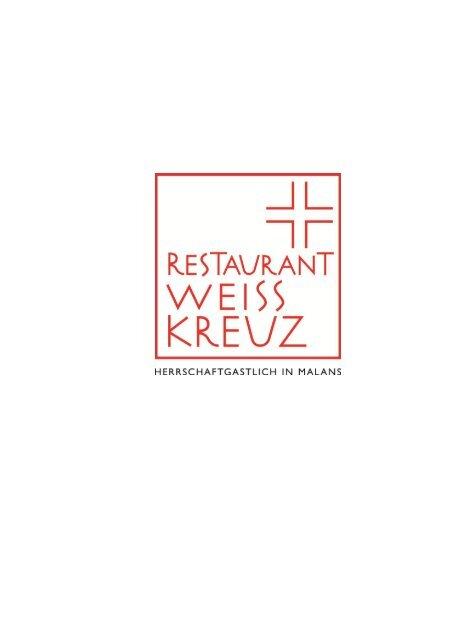 Speisekarte - Weiss Kreuz Malans