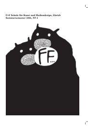 FF Zeitung SoSe06 - F+F Schule für Kunst und Mediendesign Zürich