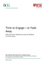 Time to Engage—Or Fade Away - IESE Business School