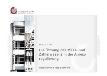 3. Anreizregulierung - WEISSKOPF Rechtsanwälte Partnerschaft