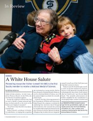 A White House Salute - University of Rochester