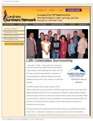 LSN - Landmine Survivors Network - Stavros Niarchos Foundation