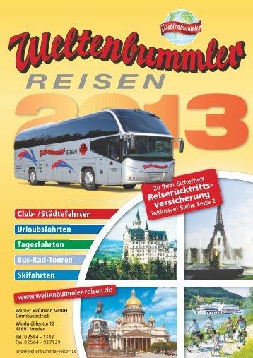 Reiserücktritts- versicherung - Weltenbummler-Reisen Werner ...