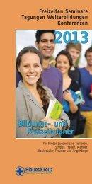 Bildungs- und Freizeitplaner Bildungs- und ... - Blaues Kreuz