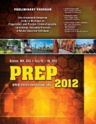 Exhibitors - PREP Symposia Series