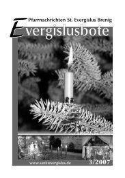 Nr. 3/2007 - Pfarrgemeinde Sankt Evergislus