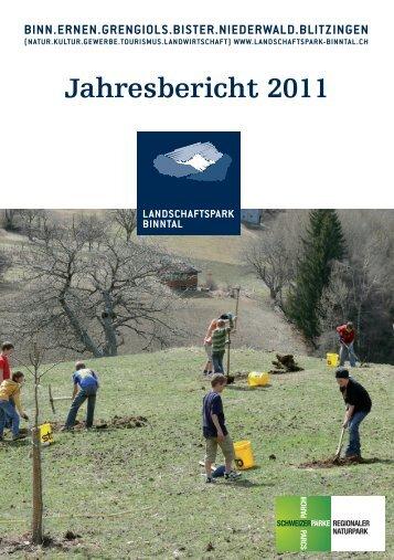 Jahresbericht 2011 - Landschaftspark Binntal