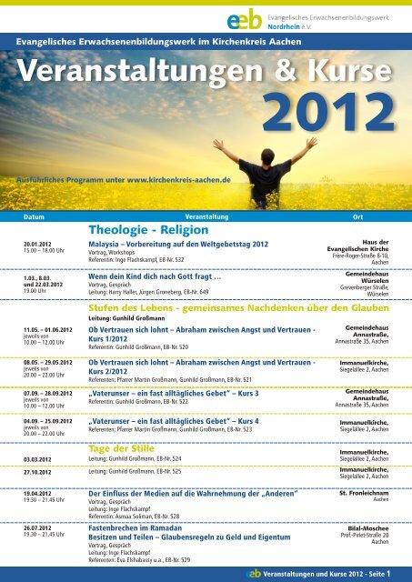 Veranstaltungen & Kurse - Evangelischer Kirchenkreis Aachen
