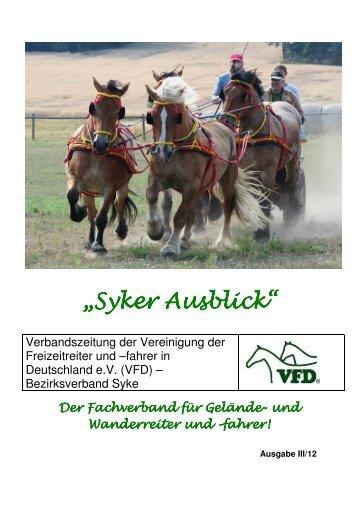 """""""Syker Ausblick"""" """"Syker Ausblick"""" - VFD"""