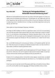 2009-06-09 neue HOAI - Achtung bei Vertragsabschluss - ingside