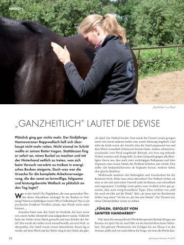 War - Pferdeosteopathie Katinka Krages