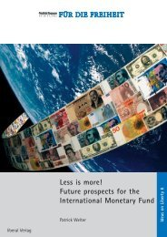 Less is more! Future prospects for the International Monetary Fund