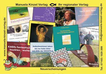 Manuela Kinzel Verlag Ihr regionaler Verlag