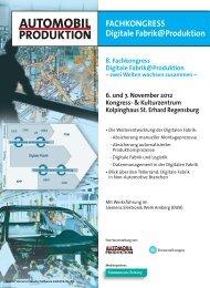 8. Fachkongress Digitale Fabrik@Produktion – zwei Welten ...