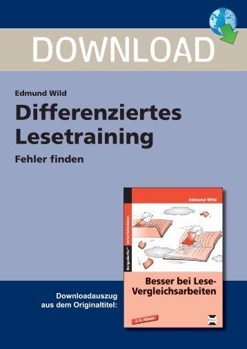 Edmund Wild Differenziertes Lesetraining Fehler ... - Persen Verlag