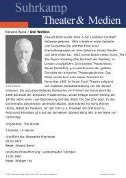 Edward Bond / Die Welten - Suhrkamp