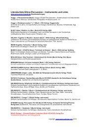 Literaturliste Ethno-Percussion – Instrumente und Links