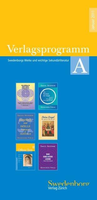 Verlagsprogramm (PDF) - Swedenborg Verlag Zürich