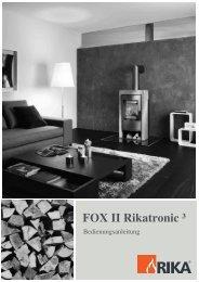 FOX II Rikatronic ³ - Welte Öfen