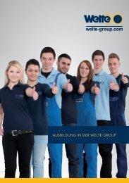 Ausbildungsprospekt - Welte-Wenu GmbH