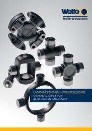 LANDMASCHINEN - KREUZGELENKE - Welte-Wenu GmbH
