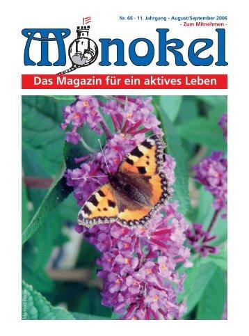 Monokel 66.pmd - Monokel - Das Magazin für ein aktives Leben