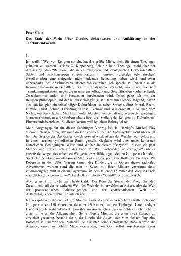 Das End der Welt - Freunde der Salzburger Festspiele