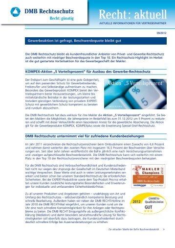 BaFin Beschwerdestatistik - DMB Rechtsschutz