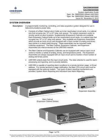SYSTEM OVERVIEW - Emerson Network Power