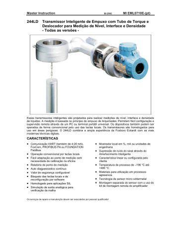 244LD Transmissor Inteligente de Empuxo com Tubo de ... - Invensys
