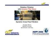 Rotation Filtration with Ceramic Filter Discs Dynamic Cross ... - Kerafol
