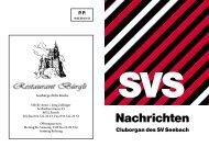 SVS Nachrichten 165, Juli 2012 - Sportverein Seebach