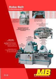Das Roba Belt Schleifverfahren - MB Maschinenbau