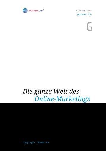 Die ganze Welt des Online-Marketings - Online-Marketing & Social ...