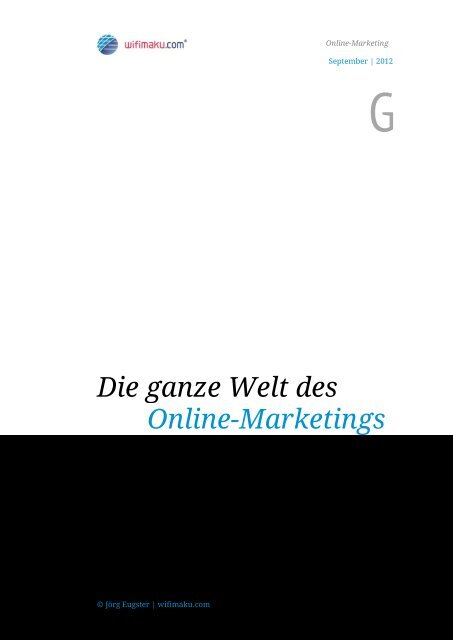 Die Ganze Welt Des Online Marketings Online Marketing