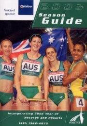Calendar of Events - Athletics Australia
