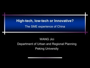 Science Parks/High-tech Zones in China: Innovative Clusters? - escap