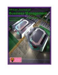 Business Management - Academic Journals