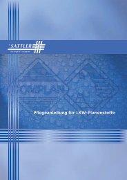 Pflegeanleitung für LKW-Planenstoffe - Sattler AG