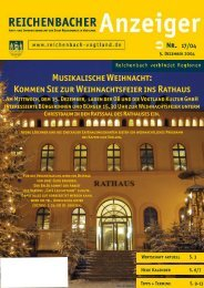 Kommen Sie zur Weihnachtsfeier ins Rathaus - Reichenbach